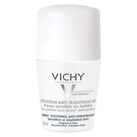 deodorant roll-on anti-perspirant Vichy, eficacitate 48h fara parfum