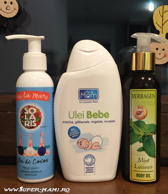 masajul bebelusului uleiuri solaris me&mom herbagen