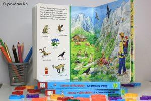 Cărţi ilustrate pentru copii: La drum cu avionul, La drum cu trenul şi Unde trăiesc animalele