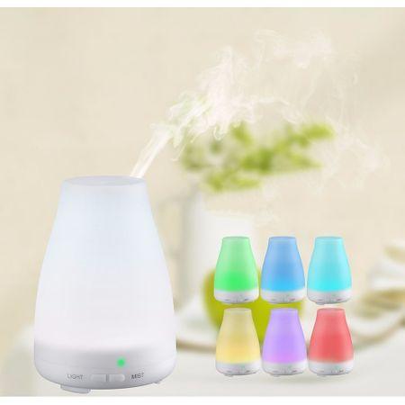 Difuzoare de aromaterapie: Difuzor aromaterapie cu ultrasunete umidificator Mistmatique Zen 120ml 9W Lampa 7 culori programabil oprire automata